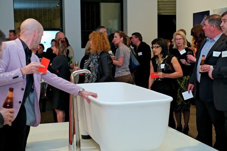 #caroma #marcnewson  Guests at the Caroma & Marc Newson bathroom range gallery event