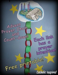 Advent Activity Pages | The Advent Prayer Chain doubles as a count down to Christmas!