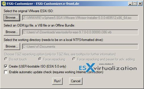 How-to Build a custom ISO with VMware tools for Nested ESXi - ESX Virtualization