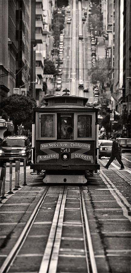 Trolley, Van Ness Street, San Francisco California.* wus up bay area i miss you Oakland,Berkley