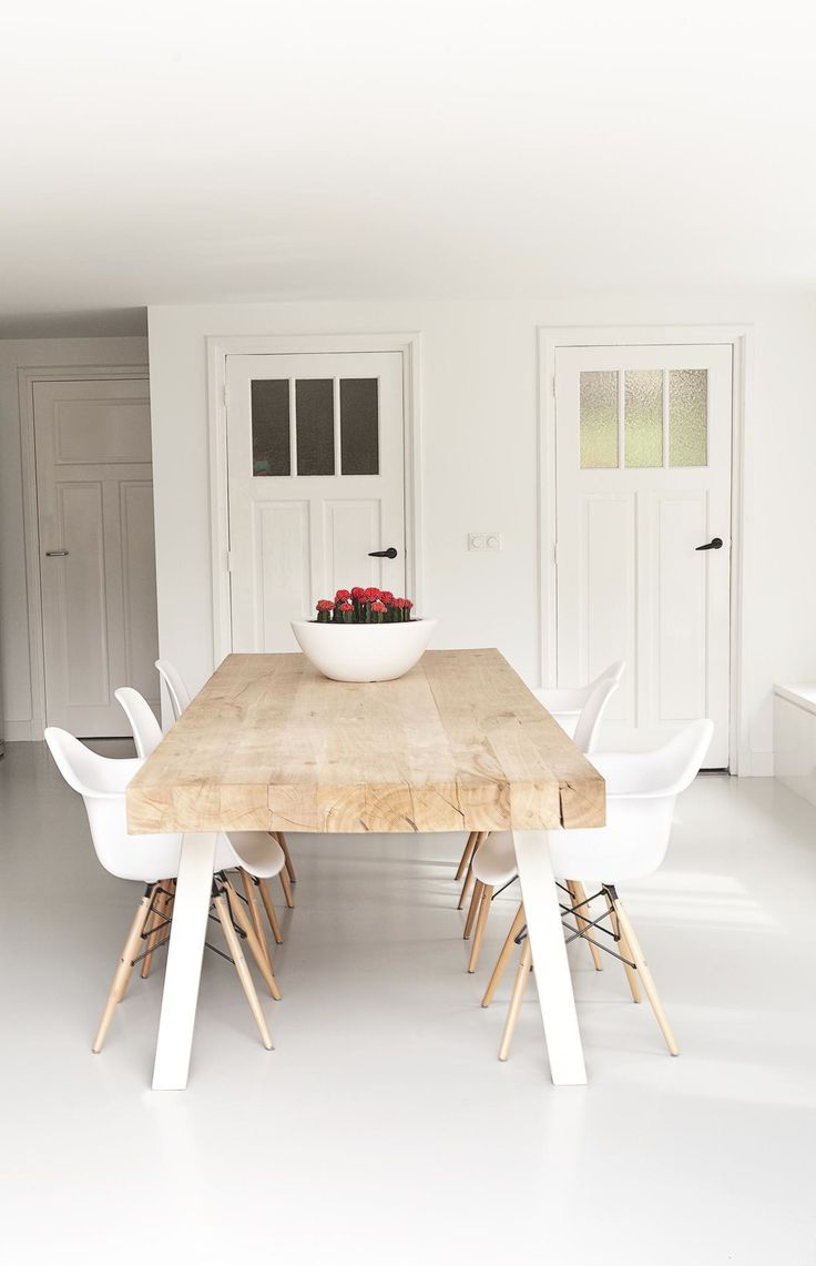 Best 25 White dining chairs ideas on Pinterest White  : b65d443774864b303e7f8032740d0d40 modern rustic dining table modern farmhouse from www.pinterest.com size 736 x 1141 jpeg 55kB