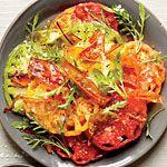 Beefsteak Tomato Salad with Fried Tomato Skins Recipe | MyRecipes.com