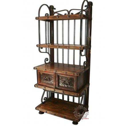 meuble d 39 entr e meuble salon meuble mexicain en bois et fer forg mobilier mexicain. Black Bedroom Furniture Sets. Home Design Ideas