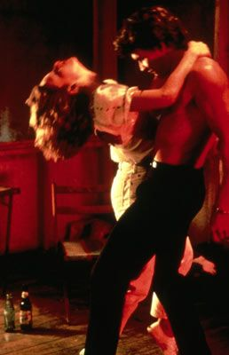 Dirty Dancing....still one of my all time favorites. This was from one of the hottest scenes.  I see this picture and can hear the song play in my head. :)