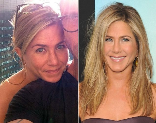 Jennifer Aniston without makeup.