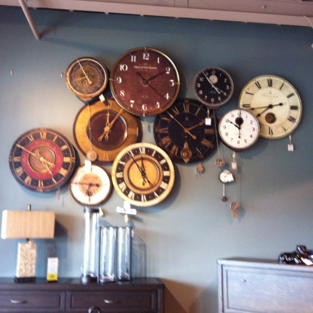 Cool clock display @ Home Furniture in St. Jacob's