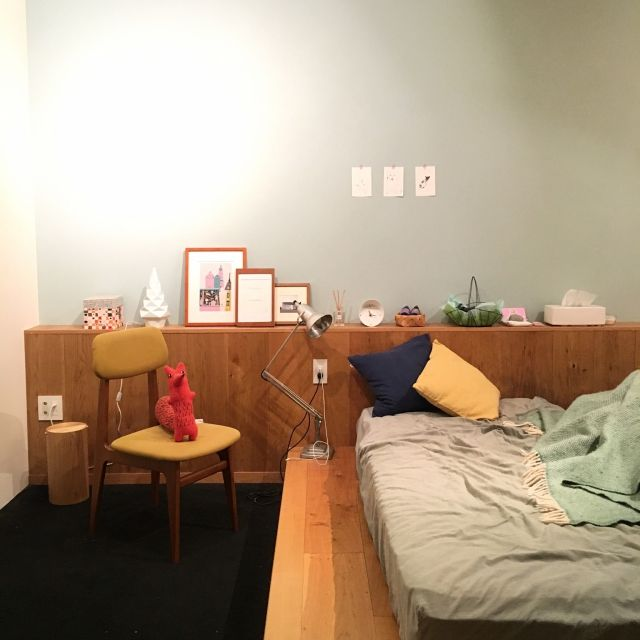 moimoiさんの、ベッド周り,無印良品,IKEA,北欧,北欧インテリア,コンランショップ,イデー,リノベーション,ポーターズペイント,D&DEPARTMENT,セルフペイント,のお部屋写真