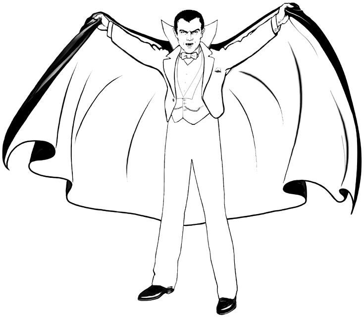 Vampire Coloring Pages Printable | Monster coloring pages ...