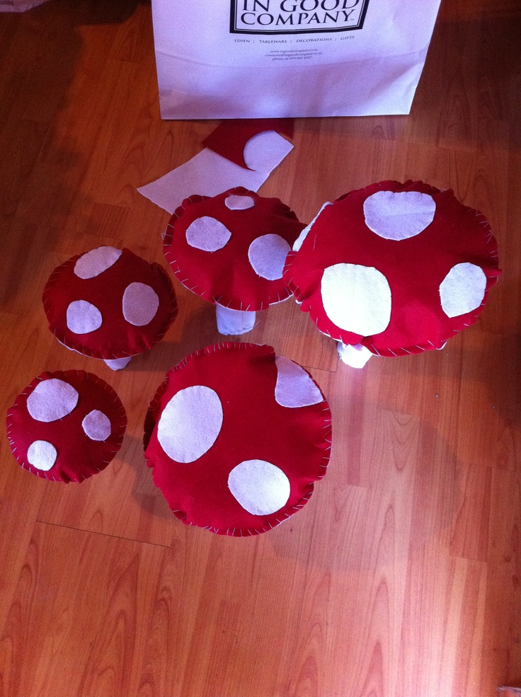 Melinda made toadstools