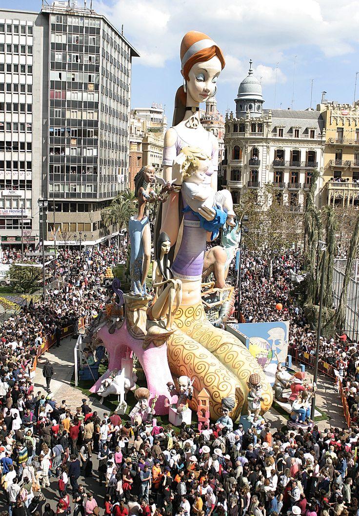 Las Fallas de Valencia, España.