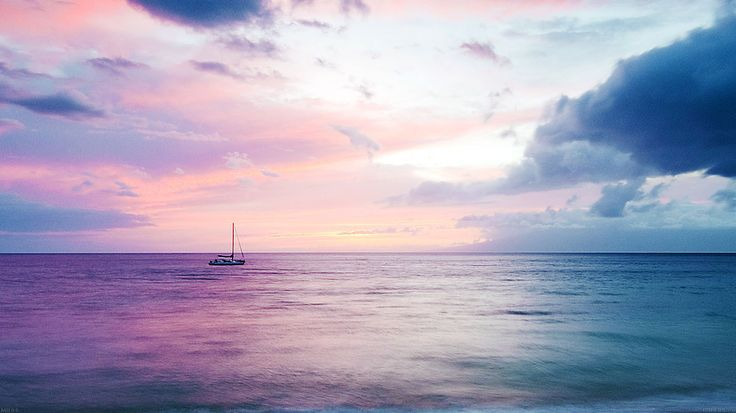 Mb06 Wallpaper Dreamy Sea Boat Beach Macbook Laptop I