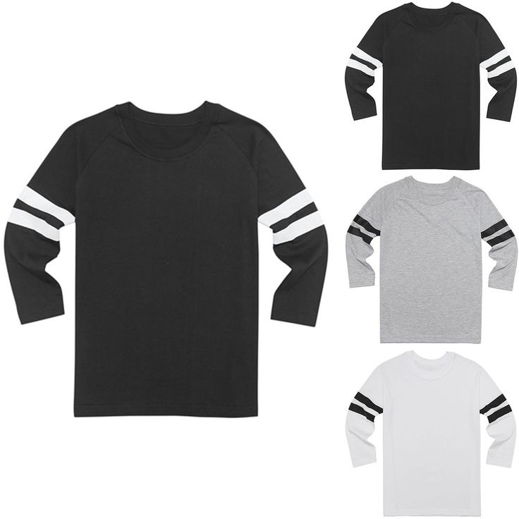 3/4 Sleeve Raglan T-Shirt Baseball Plain Jersey Round Neck Sports Rugby Team Tee #hellobincom #RaglanCrewNeckTShirtShirtsTops