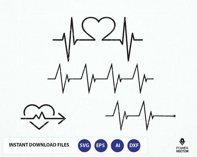 Heartbeat Svg Ekg Svg Heartbeat Line Clipart Cardiogram Etsy In 2020 Heartbeat Line In A Heartbeat Svg