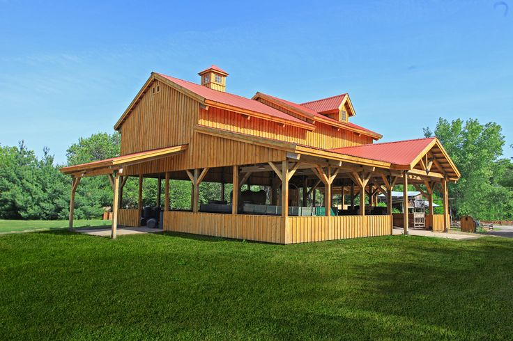 Rustic pavilion with incredible architecture www for Traditional barn kits