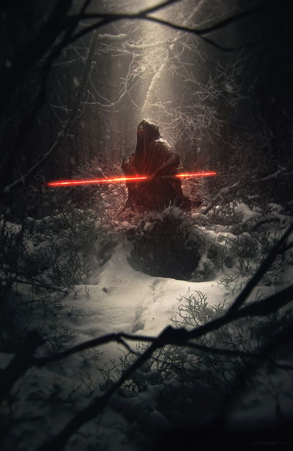 Dark Side star wars, арт, HD, длиннопост