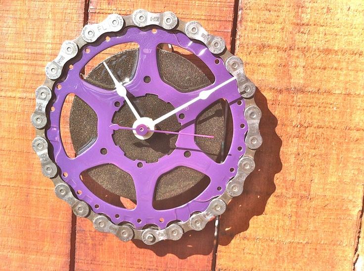 Bike Clock  TNT by ReGEARED on Etsy, $45.00