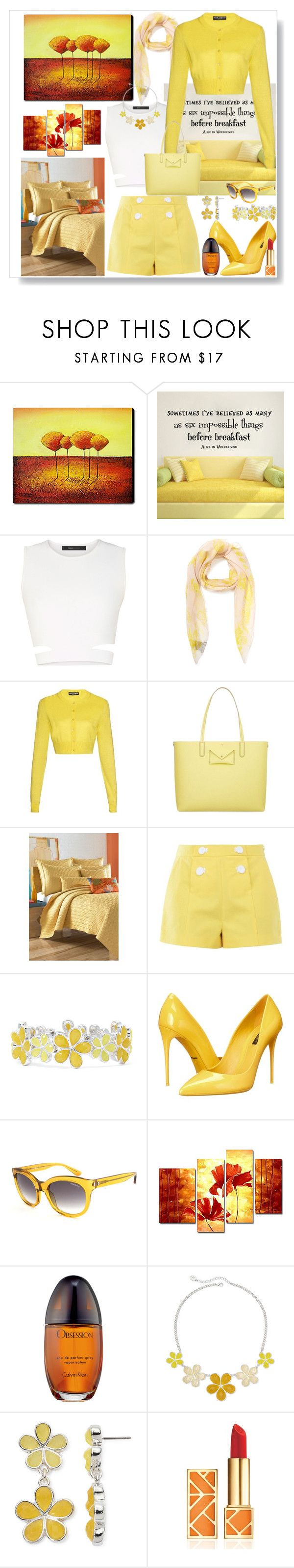 """Spring Scarf"" by ann-kelley14 on Polyvore featuring BCBGMAXAZRIA, Alexander McQueen, Dolce&Gabbana, Marc by Marc Jacobs, J. Queen New York, Boutique Moschino, Liz Claiborne, Yves Saint Laurent, Calvin Klein and Tory Burch"