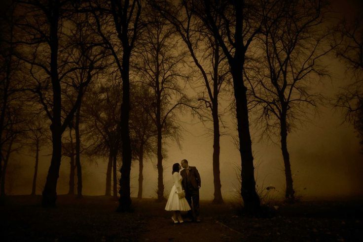 House for An Art Lover wedding in the mist by Gavin Macqueen Photography