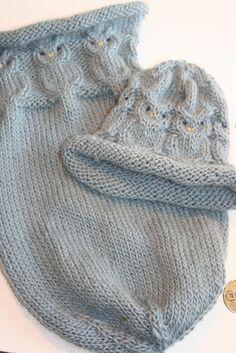FREE KNIT - Owl sleep sack and hat Sleep sack: http://www.ravelry.com/patterns/library/owlie-sleep-sack Hat: http://www.ravelry.com/patterns/library/owlie-hat