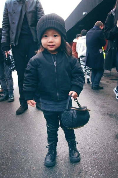 Alia Wang.  The most fashionable child I've ever seen.