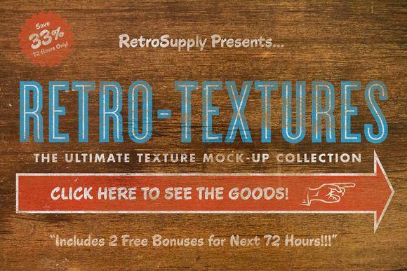 Texture MegaBundle (+ Bonus items!) by RetroSupply Co. on Creative Market