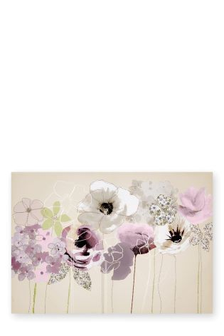 Buy Embroidered Floral Canvas from the Next UK online shop
