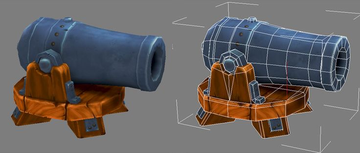 low poly cannon 3d models - Google Search