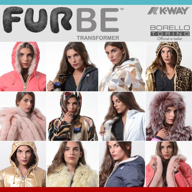 Furbe Transformer by Borello Torino official e-tailer K-way. Reversible K-Way Jacket Trasforma la tua pelliccia in un capo nuovo ed esclusivo #fur #kway #jacket #reversible #winter #fashion #furbe #pelliccia #Torino #trend