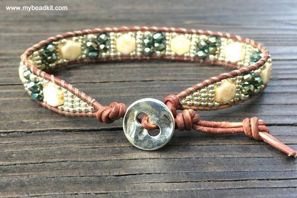 Southwest Leather Wrap Bracelet Kit 2