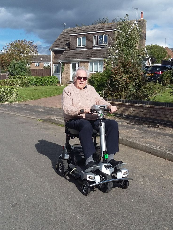 Mr Hill on his Flyte mobility scooter get your demo here http://contact.quingoscooters.com/social-mobility-scooters