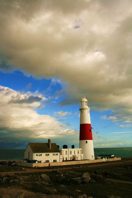 The Portland Bill lighthouse. near Weymouth in Dorset, England.