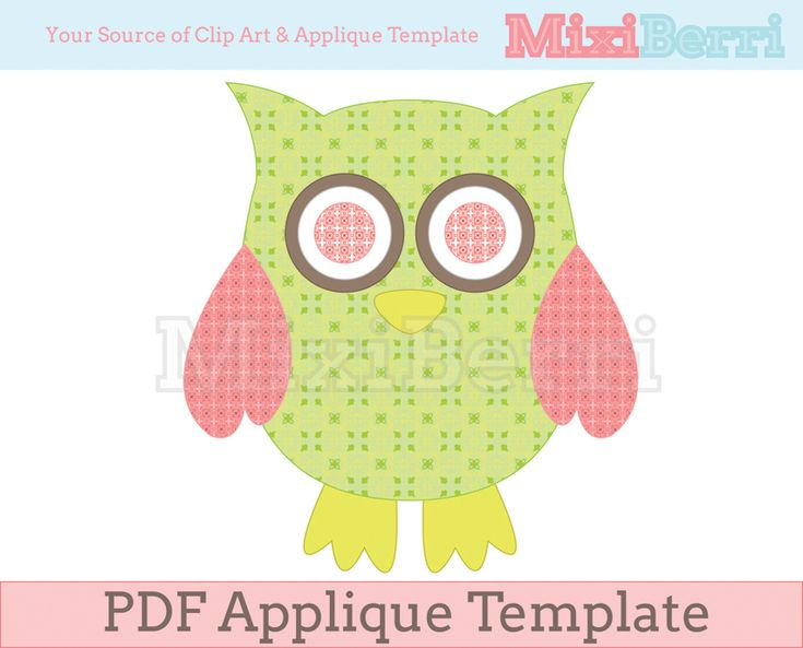 Owl applique template pdf sewing ideas pinterest owl for Owl templates for sewing