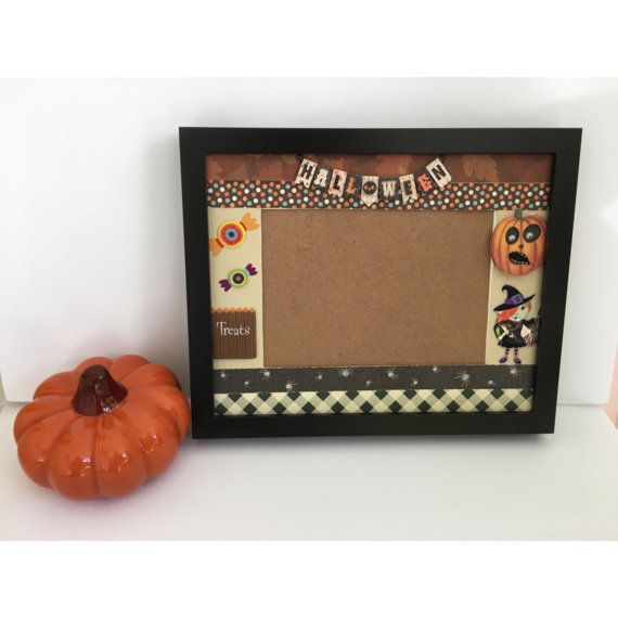 Halloween Photo Frame, Photo Frame Halloween Printed. Halloween memory Frame. Trick or Treat Halloween picture Frame