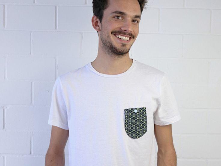Tutoriale DIY: Cómo customizar una camiseta básica con un bolsillo vía DaWanda.com