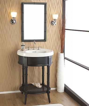 Vanities small baths and bath on pinterest for Bathroom cabinets jamaica
