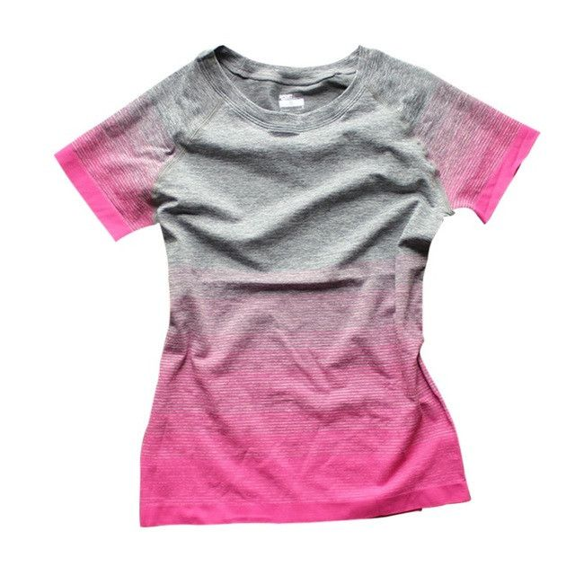 Women T Shirts Short Sleeve T-Shirts Fitness Women Dry Quick Shirt Compression Tights