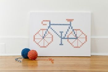 No Brakes Giant Cross-Stitch by Jessica Decker | Project | Home Decor | Cross Stitch | Kollabora