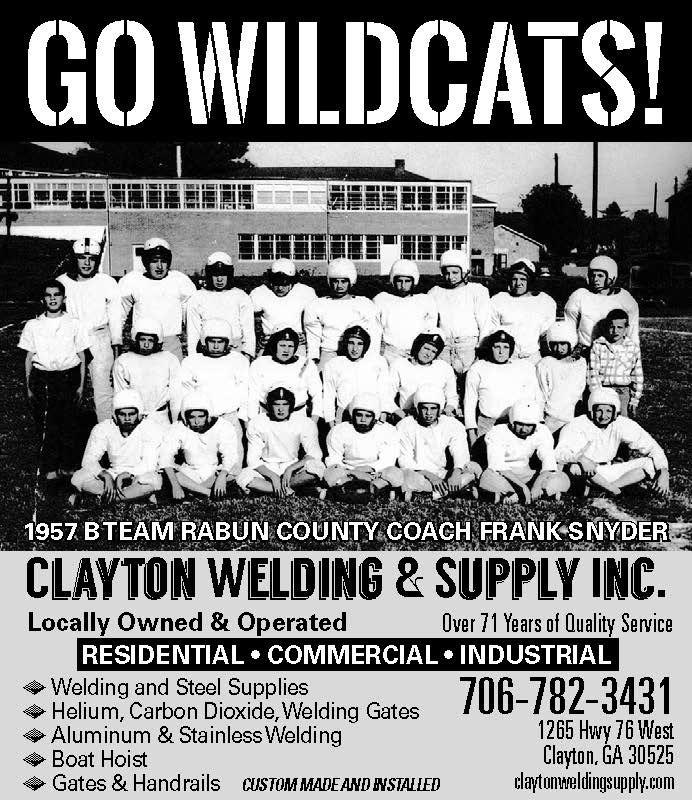 GO WILDCATS! 1957 B TEAM RABUN COUNTY COACH FRANK SNYDER