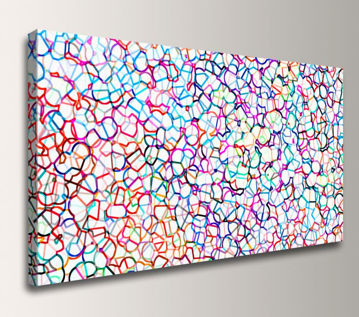 Coalescence - Colorful Abstract Panoramic Art.