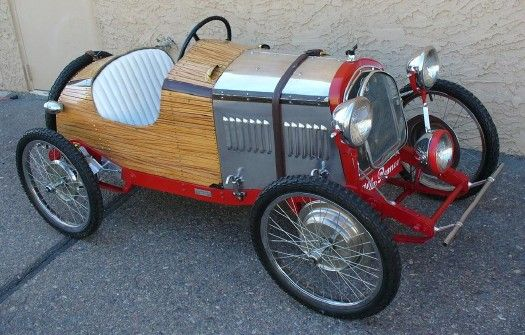*ELECTRIC-POWERED, 1930's Alfa Romeo mini roadster and its 'fabulous quality construction.'
