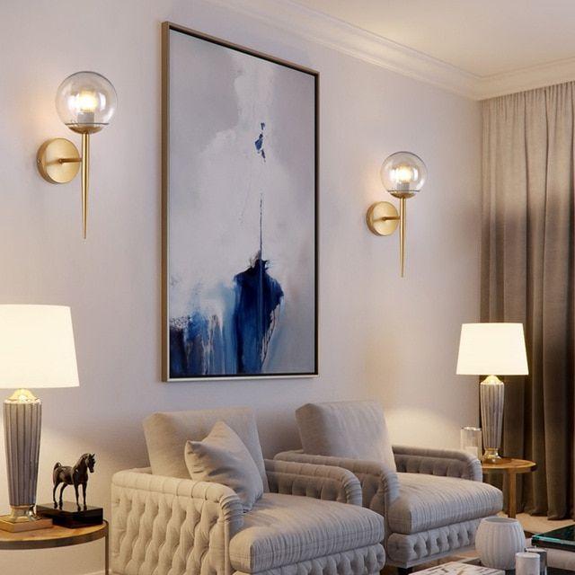Nordic Modern Wall Lamps Sconces Black Gold Decorative Night Light