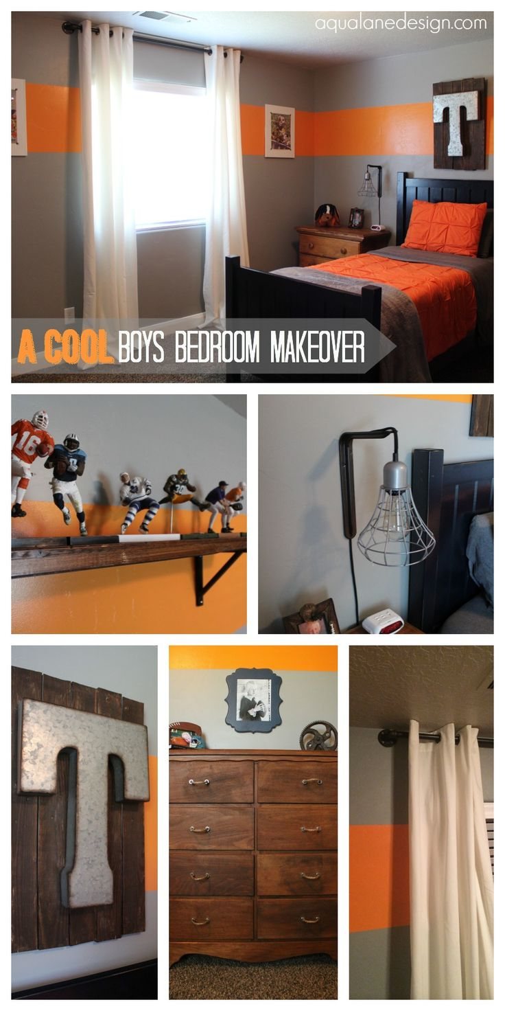 Cool Boys Room! Using metal, wood, rope and pipe you can create some