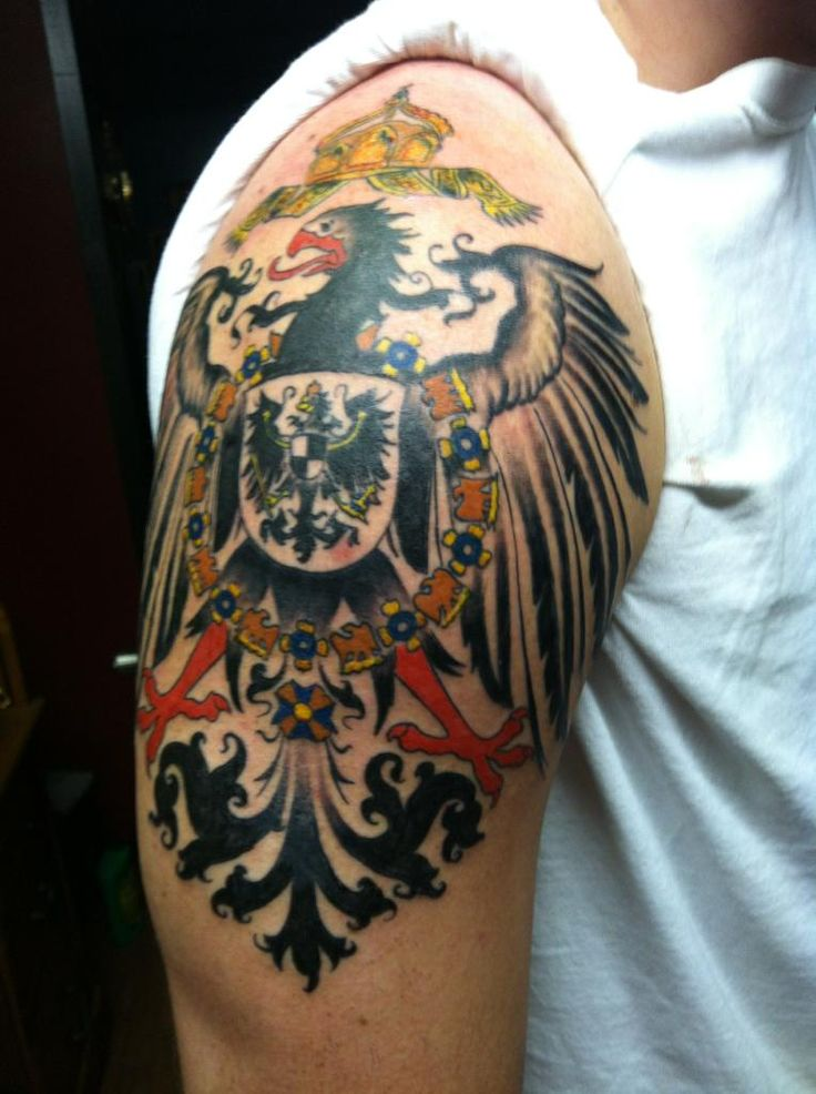 imperial german eagle tattoo -#main