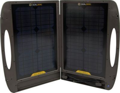 """Capture and store solar energy and convert it into useful power from the beach to the campground. The sturdy, folding briefcase collects 30 watts of power from the sun, allowing you to convert solar energy to useful power for lights, small appliances or to recharge communication devices.  Folded dimensions:  22""""L x 16""""W x 1.75""""H.  Open dimensions:  22""""L x 31.5""""W x .75""""H.  Weight:  13 lbs."""