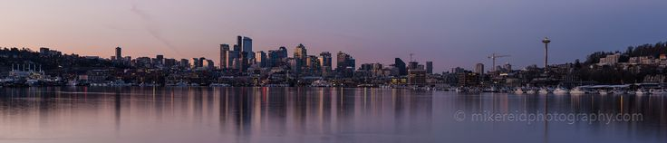 Peace in the Morning...Calm waters in Lake Union with a Seattle skyline reflection.