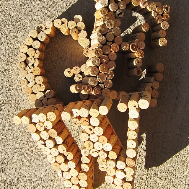 DIY wine cork letters
