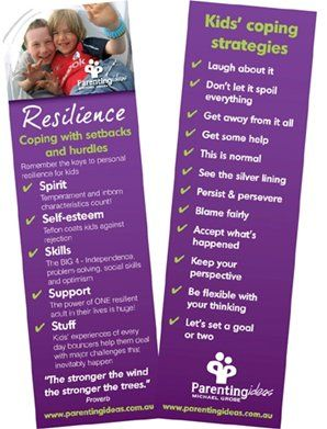 Resilient kids share four basic skill sets - independence, problem-solving, optimism and social connection. Resilience can be nurtured and developed, particularly when parents themselves are resilient and they actively foster it in their kids.