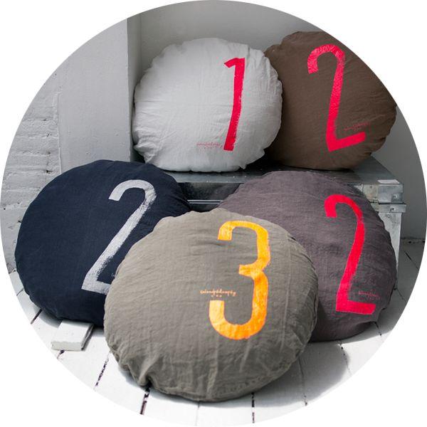 Number round cushion