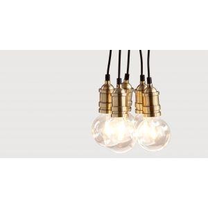 Pendant industrial lights - dining room