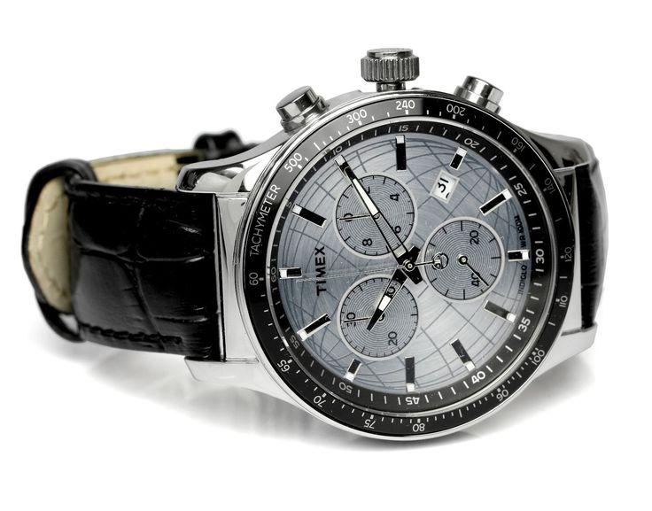 Amazon.co.jp: [タイメックス] TIMEX 腕時計 ウォッチ レザーバンド クロノグラフ T2N820 10気圧防水 インディグロナイトライト メンズ: 腕時計通販